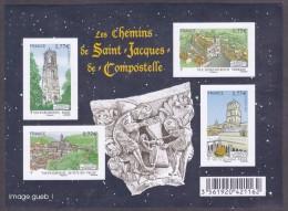 France BF N° F 4641 ,x ** Variété Non Dentelé -> Les Chemins De SAINT JEAN De COMPOSTELLE - Blocs & Feuillets