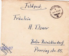 Feldpost WW2: From Lapland: Aufklärungs-Abteilung 776 (2. Sqn) FP 16747B Posted 5.2.1943 - Cover Only. Under Command Of - Militaria