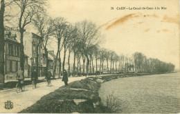 14 - CAEN - Le Canal De Caen à La Mer  -  78      (Tâchée)      Correspondance Militaire  (plié Côté Gauche) - Caen