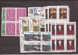 Europa Zegels In Blok Van 4 Postfris Zonder Scharnier ** - Sammlungen