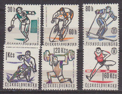 L3273 - TCHECOSLOVAQUIE Yv N°1251/56 ** SPORT - Unused Stamps