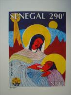 SENEGAL 1994 CHRISTMAS / 4 LUXE PROOFS / Very  Beautiful !  Noel Navidad - Sénégal (1960-...)