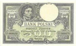 Poland 500 Zlotych 1919 (1924) P58 UNC - Polonia