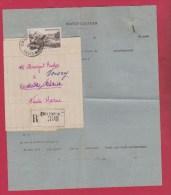 PLIS RECOMMANDE DE CHAUMONT //  POUR VOISEY  //  MINISTERE DE L AGRICULTURE  // JUIN 1950 - 1921-1960: Modern Tijdperk