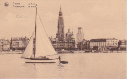 """CPA Anvers - La Rade - Cachet """"Dover-Calais, The Quickest Route To The Continent"""" - 1932 (5017) - Antwerpen"""