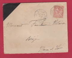 ENVELOPPE POUR BREZE  //  19 MAI 1903  // CACHET DE CIRE AU DOS - Postmark Collection (Covers)