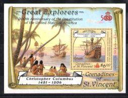 St.Vincent Grenadines - 1988 Santa Maria Block MNH__(TH-3944) - St.Vincent Und Die Grenadinen