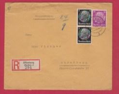 ALLEMAGNE //  ENVELOPPE RECOMMANDEE DE OFFENBURG //  POUR STRASBOURG  // 15/9/1941 - Allemagne