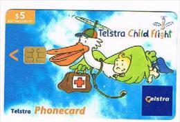 AUSTRALIA - TELSTRA    (CHIP) -  2001 CHILD FLIGHT     EXP. 10.2004      - USED  -  RIF. 8130 - Australia