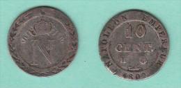 10 Centimes à L'N Couronnée - 1809 H ( H à Gauche, Atelier Inversé - La Rochelle - France