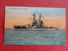 U.S. Battleship  North Dakota  Has A 1913 Ship Cancel North ?? Dakota Ref 1332 - Guerre