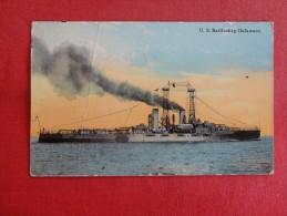 U.S. Battleship Delaware  --  1911 Cancel Has Crease   Ref 1332 - Krieg