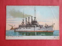 U.S  Battleship Missouri   Has Creases- Not Mailed  Ref 1332 - Guerre
