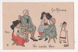 Illustrateur Signé DELALAIN - En Alsace - Un Conte Bleu - Other Illustrators