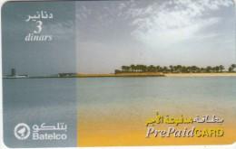 BAHRAIN - Beach, Batelco Prepaid Card BD 3, Used - Bahrain