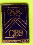 Pin JO Jeux Olympiques Lillehammer 1994 Médias CBS - 8V15 - Olympische Spiele