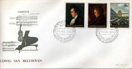 RWANDA - ENVELOPPE  -  REPUBLIQUE  RWANDAISE - Concerto LUDW VAN BEETHOVEN IG  - 1er Jour PIANO MUSQIUE VIOLON - 1970-79: FDC