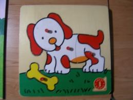 PUZZLE EN BOIS QUATRE PIECES JEU D'EVEIL POUR ENFANT MOINS DE TROIS ANS - Puzzles