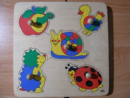 PUZZLE EN BOIS CINQ PIECES JEU D'EVEIL POUR LES TOUT PETITS - Puzzles