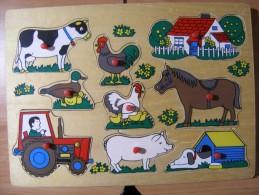 PUZZLE EN BOIS NEUF PIECES JEU D'EVEIL POUR LES TOUT PETITS - Puzzles