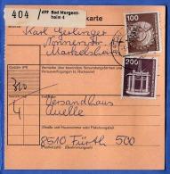 DEUTSCHE BUNDESPOST - 100+200+10 Pf Auf Paketkarten-Abschnitt - [7] Federal Republic