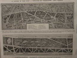 La Ceinture De Paris Après La Démolition Des Fortifications - Entre Montreuil Et De Bagnolet - Page Original 1913 - Documents Historiques