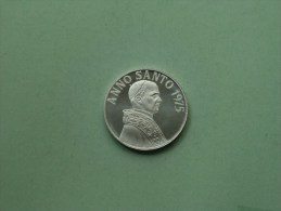 ANNO SANTO 1975 - IN NOMINE DOMINI / Zilverkleurig 15.8 Gr. - 35 Mm. ( Details Zie Foto ) ! - Pièces écrasées (Elongated Coins)
