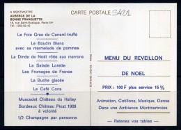 """AUBERGE DE """" LA BONNE FRANQUETTE """" A MONTMARTRE PARIS 18eme . Voir Recto - Verso    (S421) - Arrondissement: 18"""