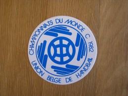 CHAMPIONNAT DU MONDE HAND BALL 1982   Union Belge Autocollant Sticker - Handbal