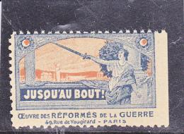 VIGNETTE OEUVRE DES REFORMES DE LA GUERRE- - Commemorative Labels
