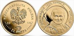 "POLONIA 2 ZLOTES  2.014  2014 Oro Nórdico  ""Canonización De Juan Pablo II"" SC/UNC  T-DL-10.920 - Polonia"