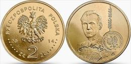 "POLONIA 2 ZLOTES  2.014  2014 Oro Nórdico  ""Centenario Del Nacimiento De JAN KARSKI"" SC/UNC  T-DL-10.921 - Polonia"