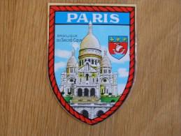 PARIS Ile De France  Ecusson Blason Armoiries Ville Souvenirs Autocollant Sticker Autres Collections - Autocollants