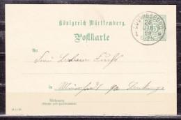 P 37 Ziffer, Ludwigsburg Nach Mainhardt 1899 (55578) - Wurtemberg