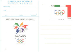 I771) ITALIA CARTOLINA POSTALE NAGANO DEL 1998 LIRE NUOVA - 6. 1946-.. Repubblica