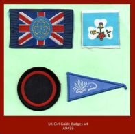 A9459  Collection X4 Girl Guide Badges - Scouting