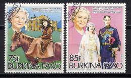 BURKINA-FASO - N° 643/644° - 85è ANNIVERSAIRE DE LA REINE -MERE ELIZABETH - Burkina Faso (1984-...)