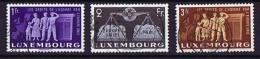 1951  En Faveur De L'Europe Unie 3 Valeurs: 1 Fr, 2 Fr, 3 Fr