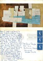 Nicholson, Ben  Argolis   Art Postcard Posted 1966 Stamp - Paintings