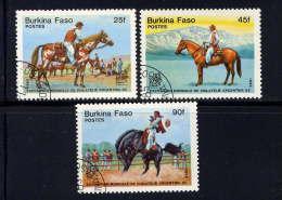 BURKINA-FASO - N° 659/661° - CAVALIERS ARGENTINS - Burkina Faso (1984-...)