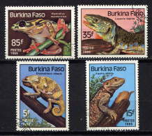 BURKINA-FASO - N° 662/665° - REPTILES - Burkina Faso (1984-...)