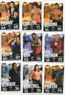 N°1    SLAM ATTAX       LOT DE 9 CARTES  VOIR SCAN - Trading Cards