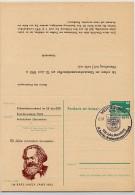 DDR P85-1a-83 C1-a Antwort-Postkarte Zudruck AK GANZSACHEN KARL MARX Halle Sost. 1983 - Karl Marx