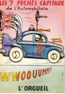 CABROL  Ed  LYNA  N°245/5   -  HUMOUR  PECHES  AUTOMOBILISTE  ORGUEIL -   CPSM  10,5x15 BE 1984 - Künstlerkarten