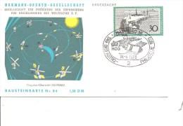 Espace -Plan De Vol ( Carte Commémorative D'Allemagne De 1973 à Voir) - FDC & Commemoratives