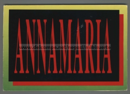 T4375 ILLUSTRAZIONE NOME ANNAMARIA VG (m) - Nomi