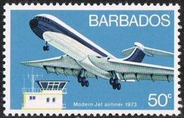 Barbados SG475 1973 Aviation 50c Unmounted Mint - Barbados (1966-...)
