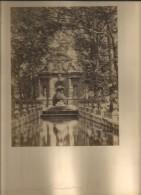 FOTOGRAFIA PARA ENMARCAR DE LA FONTAINE DE MEDICIS  LUXEMBURGO TAMAÑO 40 X 30 CM AÑO 1920   OHL - Places