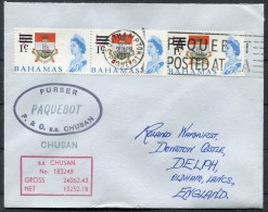 1967 Pitcairn P & O Orient Lines Steamship Chusan Paquebot Cristobal Canal Zone Cover - Stamps