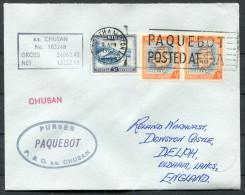 1967 Niue P & O Orient Lines Steamship Chusan Paquebot Southampton Cover - Niue